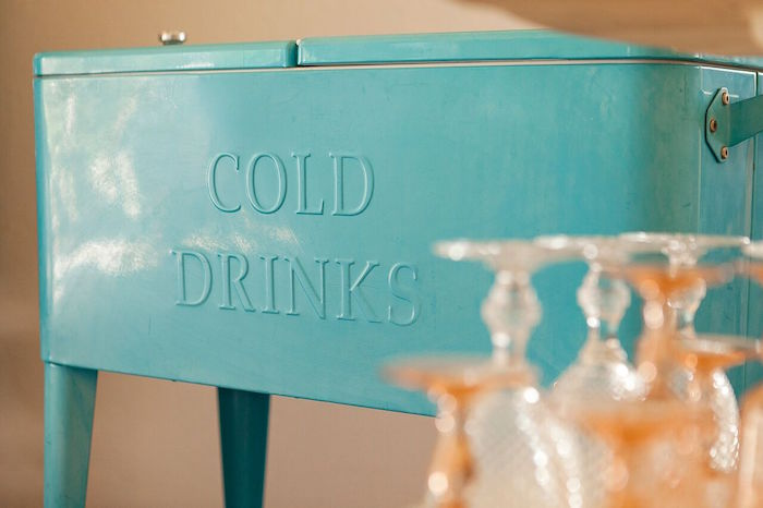 """Cold Drinks"" case from a Boho Chic Baby Shower on Kara's Party Ideas 