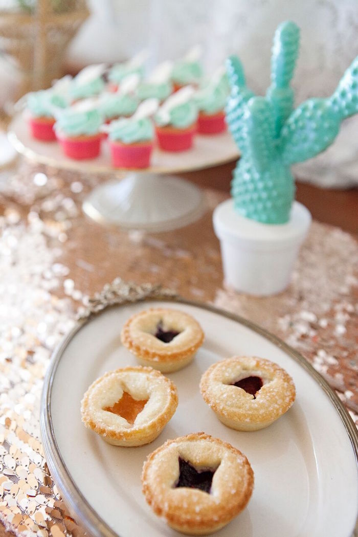 Mini pies from a Boho Chic Baby Shower on Kara's Party Ideas | KarasPartyIdeas.com (34)