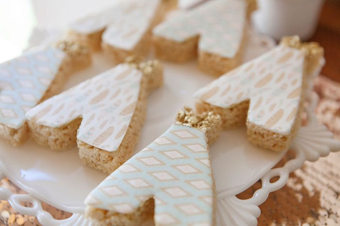 Teepee cookies from a Boho Chic Baby Shower on Kara's Party Ideas | KarasPartyIdeas.com (31)