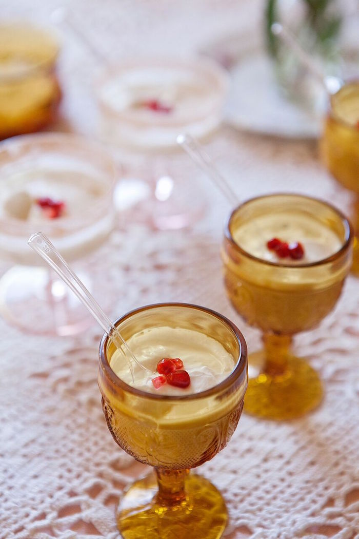 Crystal glasses + drinks from a Boho Chic Baby Shower on Kara's Party Ideas   KarasPartyIdeas.com (29)