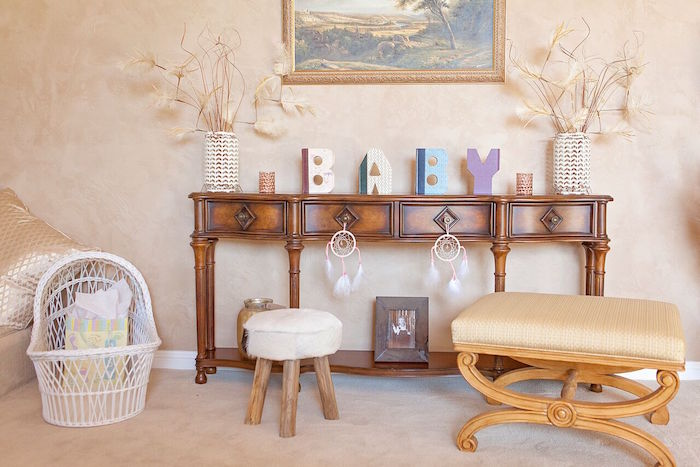 Party decor from a Boho Chic Baby Shower on Kara's Party Ideas | KarasPartyIdeas.com (55)