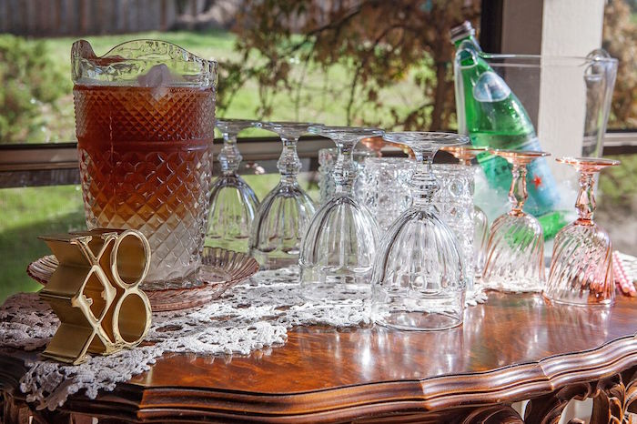 Beverage table from a Boho Chic Baby Shower on Kara's Party Ideas | KarasPartyIdeas.com (22)