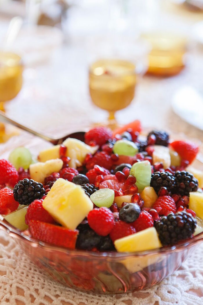 Fruit salad from a Boho Chic Baby Shower on Kara's Party Ideas | KarasPartyIdeas.com (20)
