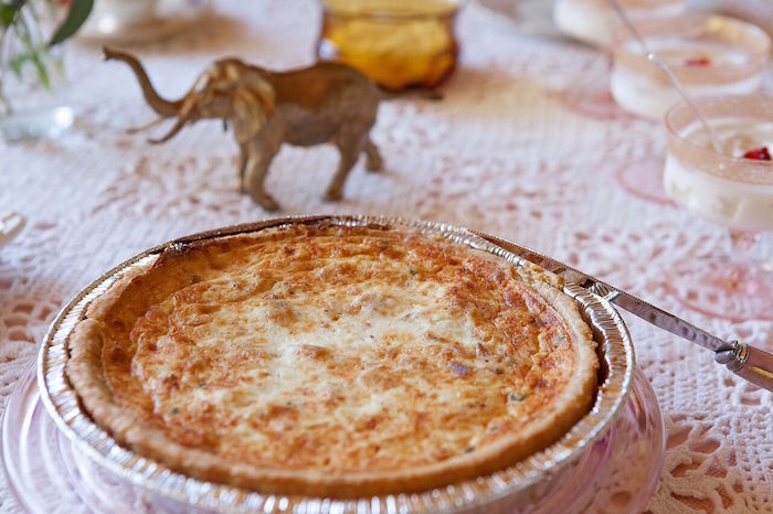 Quiche from a Boho Chic Baby Shower on Kara's Party Ideas | KarasPartyIdeas.com (10)