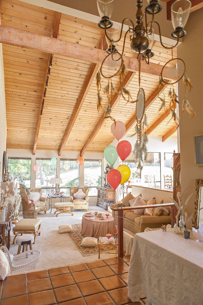Partyscape From A Boho Chic Baby Shower On Karas Party Ideas