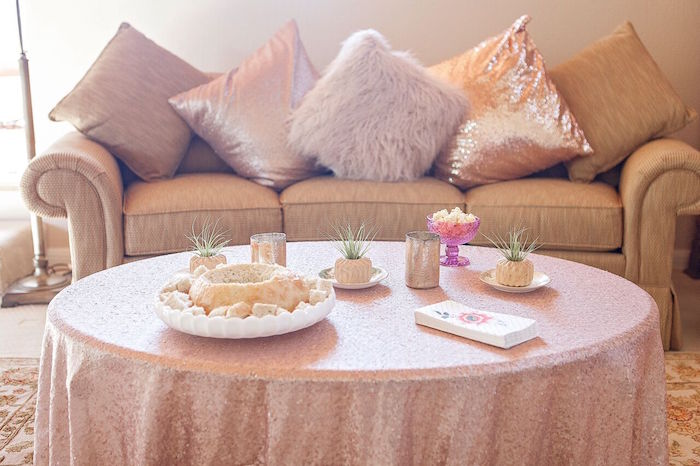 Party table from a Boho Chic Baby Shower on Kara's Party Ideas | KarasPartyIdeas.com (52)