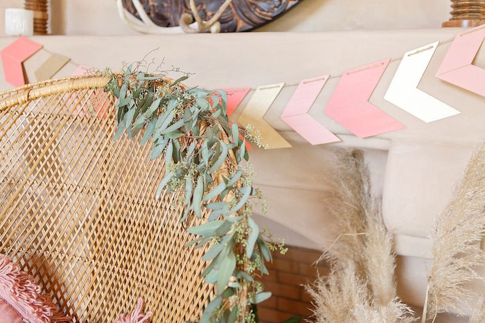 Bunting from a Boho Chic Baby Shower on Kara's Party Ideas | KarasPartyIdeas.com (50)