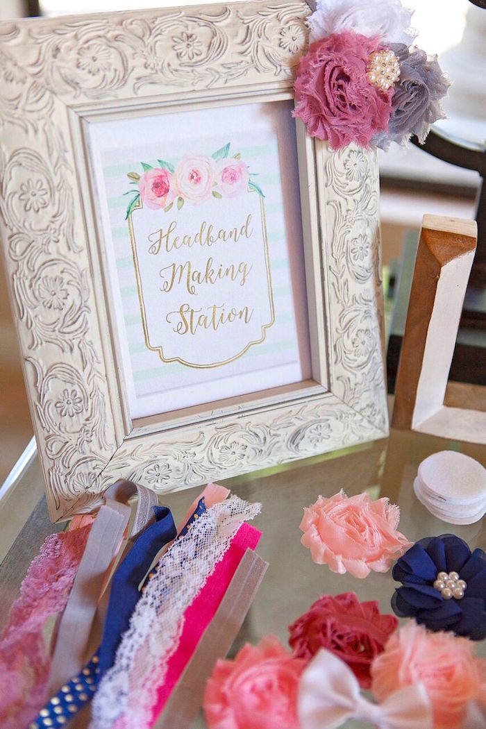Framed and printed party signage from aBoho Chic Baby Shower on Kara's Party Ideas | KarasPartyIdeas.com (49)