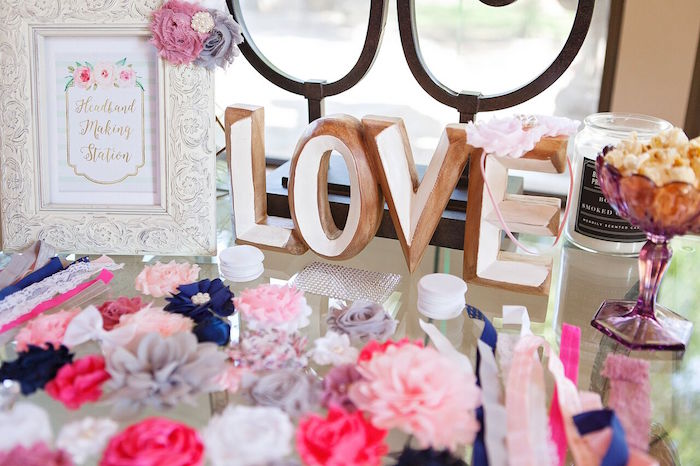 Gold block LOVE letters from a Boho Chic Baby Shower on Kara's Party Ideas | KarasPartyIdeas.com (48)