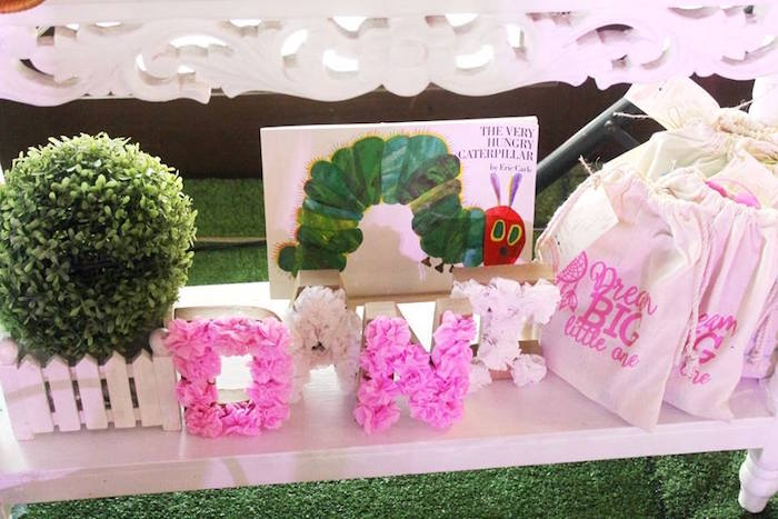Floral letters & decor from a Boho Chic Birthday Party on Kara's Party Ideas | KarasPartyIdeas.com (31)
