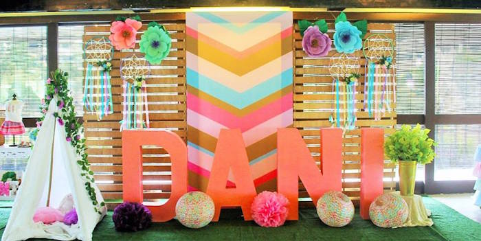 drop ceiling decorating ideas - Kara s Party Ideas Boho Chic Birthday Party