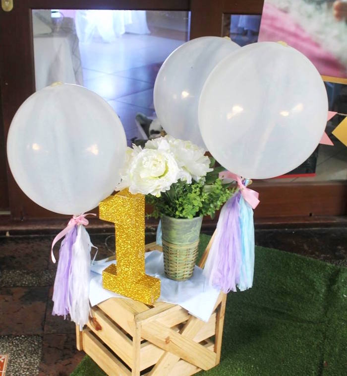 Boho balloons and party decor from a Boho Chic Birthday Party on Kara's Party Ideas | KarasPartyIdeas.com (26)