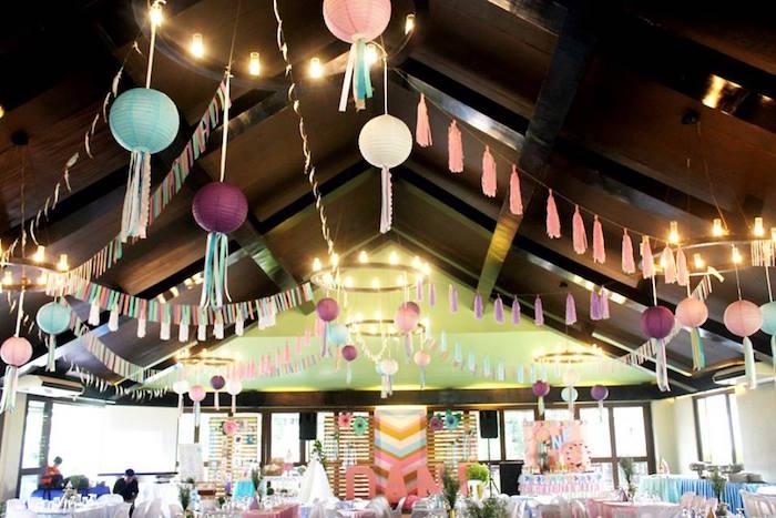 Boho partyscape from a Boho Chic Birthday Party on Kara's Party Ideas | KarasPartyIdeas.com (42)