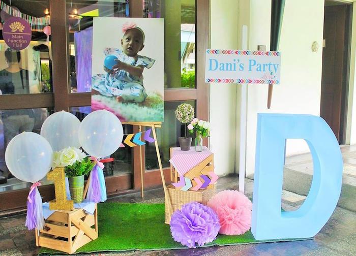 boho decor from a Boho Chic Birthday Party on Kara's Party Ideas | KarasPartyIdeas.com (19)
