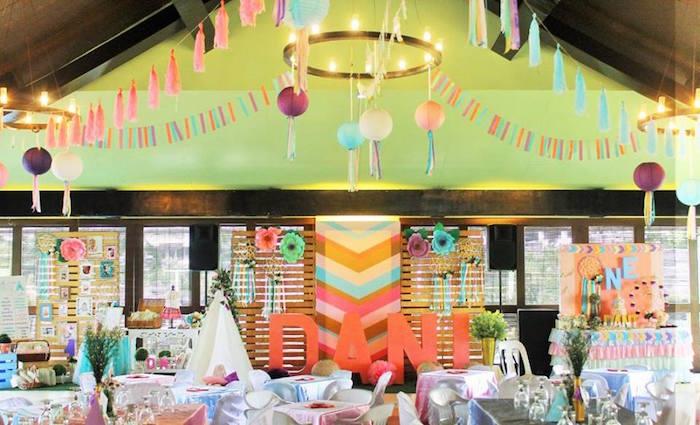 Boho Chic Birthday Party Spread On Karas Ideas