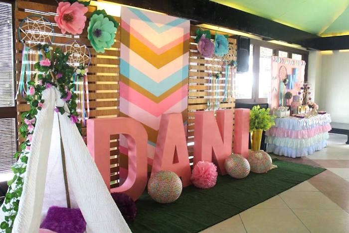 kara 39 s party ideas boho chic birthday party kara 39 s party ideas. Black Bedroom Furniture Sets. Home Design Ideas