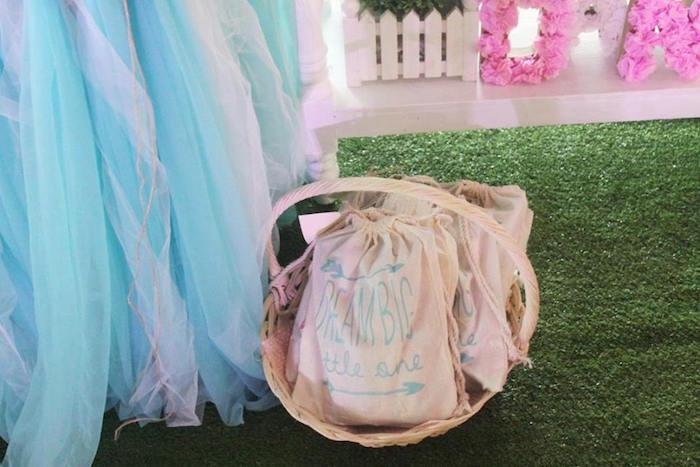 Dream Big drawstring favor bags from a Boho Chic Birthday Party on Kara's Party Ideas | KarasPartyIdeas.com (8)
