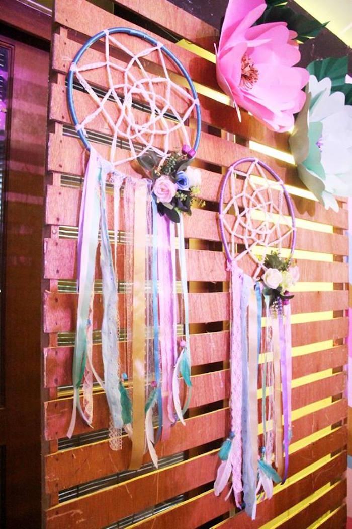 Dreamcatchers from a Boho Chic Birthday Party on Kara's Party Ideas | KarasPartyIdeas.com (34)