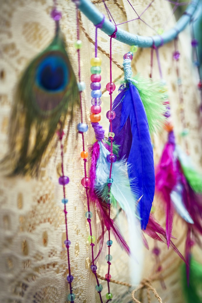 Colorful boho bunting from a Boho Tribal Birthday Party on Kara's Party Ideas | KarasPartyIdeas.com (30)