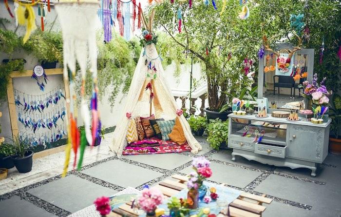 Boho Tribal Birthday Party on Kara's Party Ideas | KarasPartyIdeas.com (28)