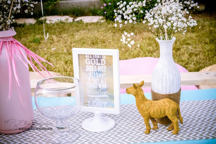 Guest table props from a Boho Tribal Birthday Party on Kara's Party Ideas | KarasPartyIdeas.com (43)