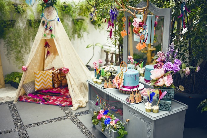 Kara's Party Ideas Boho Tribal Birthday Party | Kara's ...