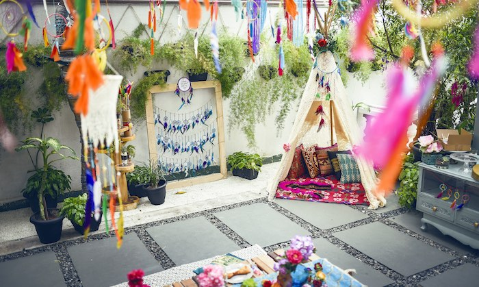 Tribal party spread from a Boho Tribal Birthday Party on Kara's Party Ideas | KarasPartyIdeas.com (38)