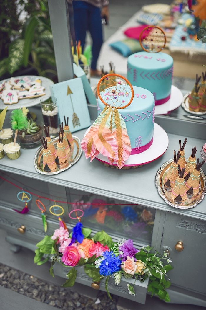 Karas Party Ideas Boho Tribal Birthday Party Karas