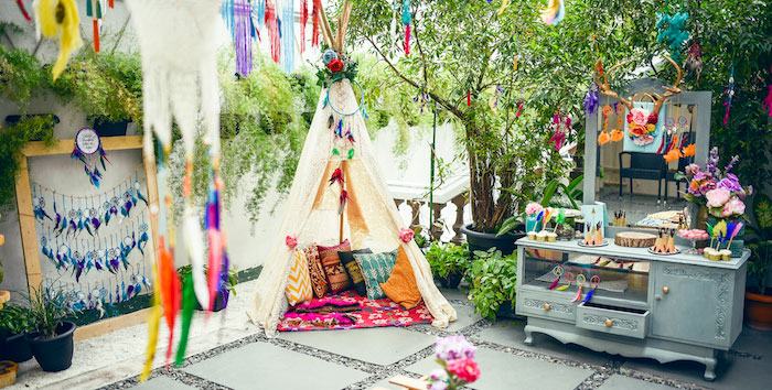Boho Tribal Birthday Party on Kara's Party Ideas | KarasPartyIdeas.com (3)