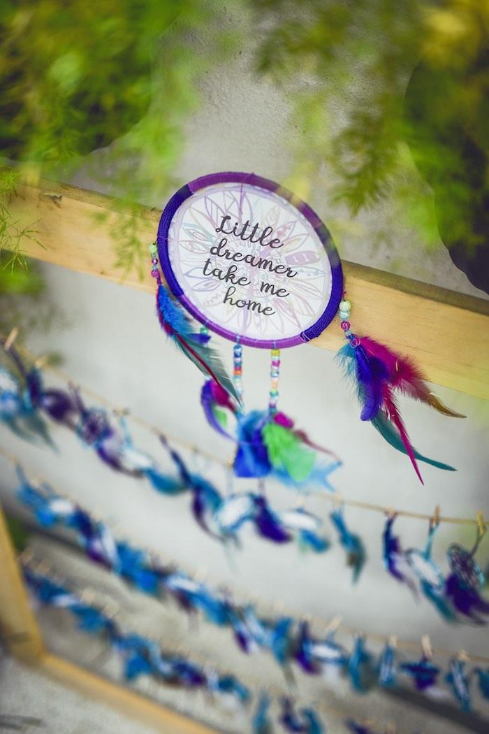 Dreamcatcher tag from a Boho Tribal Birthday Party on Kara's Party Ideas | KarasPartyIdeas.com (32)
