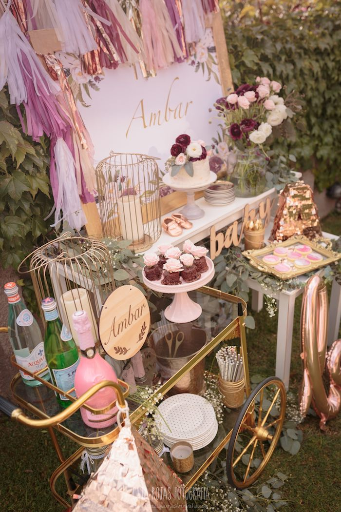 Burgundy, Blush & Gold Boho Baby Shower on Kara's Party Ideas | KarasPartyIdeas.com (16)