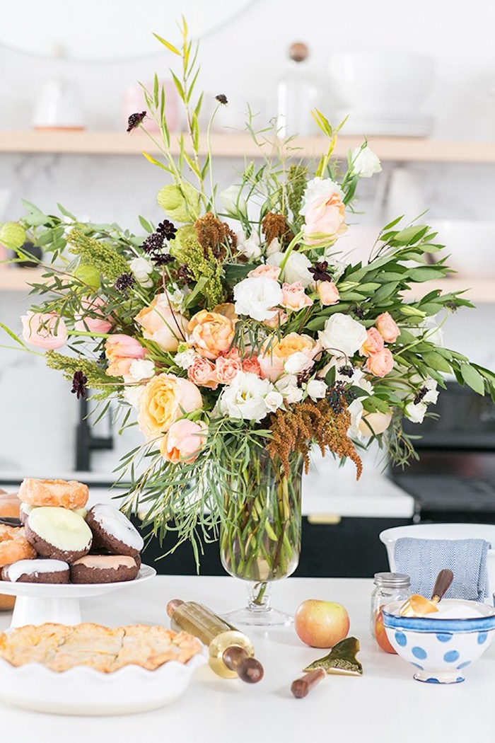 Florals and sweets from a Charming Pie Party on Kara's Party Ideas | KarasPartyIdeas.com (12)