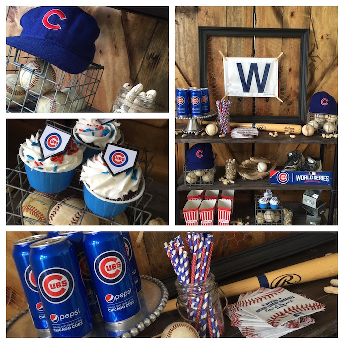 Party details from a Chicago Cubs Baseball Party on Kara's Party Ideas | KarasPartyIdeas.com (6)