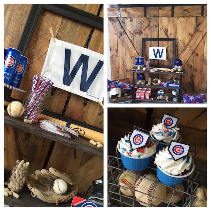 Chicago Cubs Baseball Party on Kara's Party Ideas | KarasPartyIdeas.com (5)