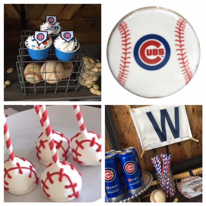 Chicago Cubs Baseball Party on Kara's Party Ideas | KarasPartyIdeas.com (4)