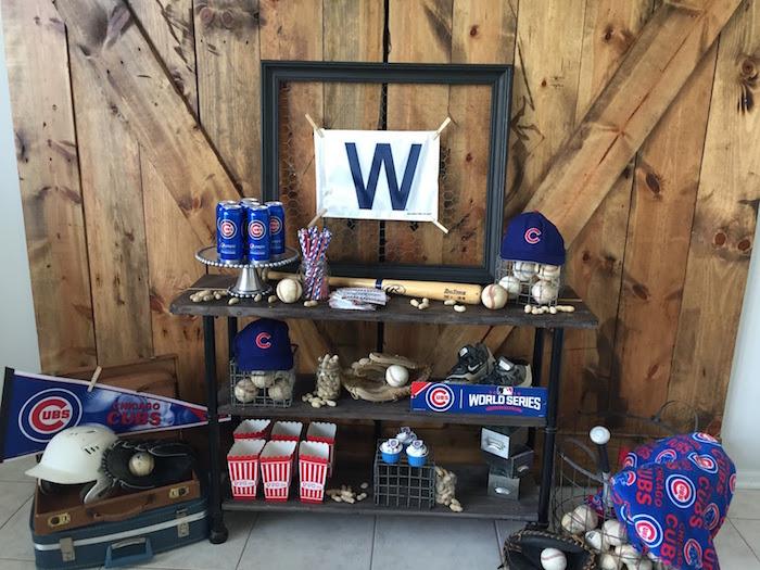 Chicago Cubs Baseball Party on Kara's Party Ideas | KarasPartyIdeas.com (16)