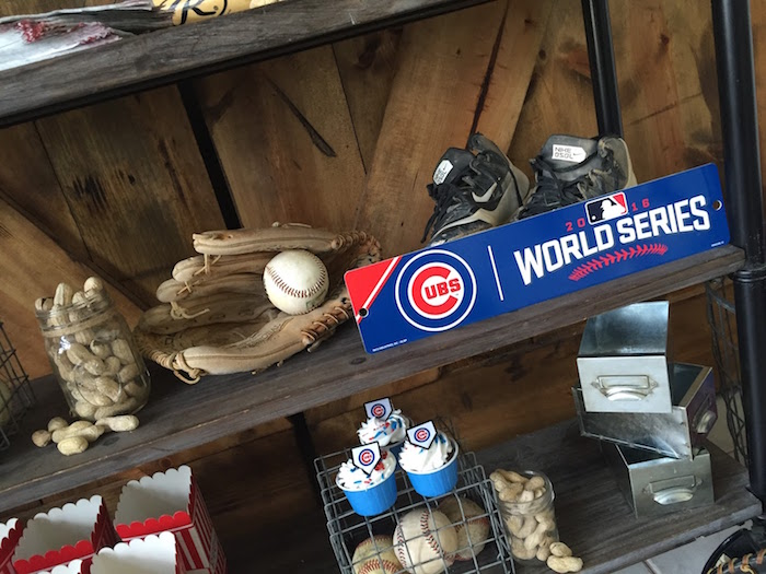 2016 World Series sign from a Chicago Cubs Baseball Party on Kara's Party Ideas | KarasPartyIdeas.com (13)