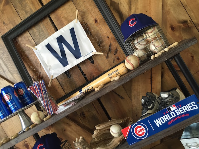Chicken wire frame from a Chicago Cubs Baseball Party on Kara's Party Ideas | KarasPartyIdeas.com (12)