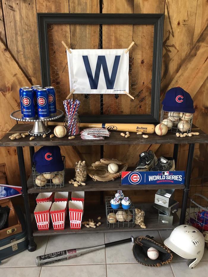 Chicago Cubs Baseball Party on Kara's Party Ideas | KarasPartyIdeas.com (11)