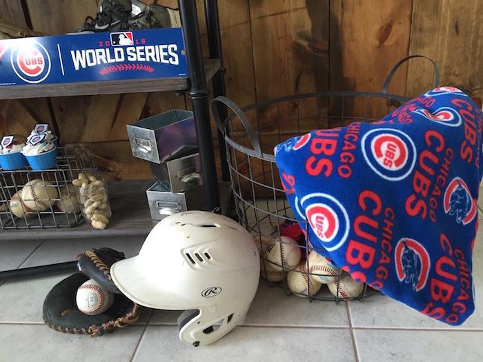 Chicago Cubs memorabilia from a Chicago Cubs Baseball Party on Kara's Party Ideas | KarasPartyIdeas.com (10)