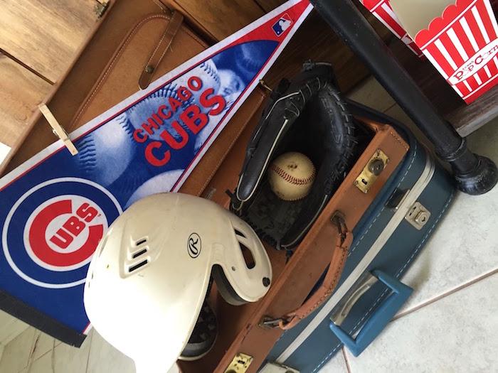 Memorabilia from a Chicago Cubs Baseball Party on Kara's Party Ideas | KarasPartyIdeas.com (9)