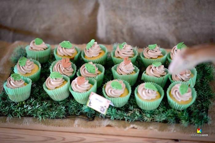 Dinosaur cupcakes from a Dinosaur Birthday Party on Kara's Party Ideas | KarasPartyIdeas.com (13)