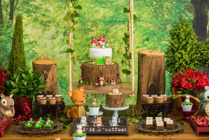 Dessert spread from an Enchanted Forest Birthday Party on Kara's Party Ideas   KarasPartyIdeas.com (42)