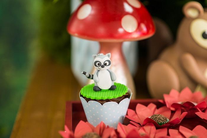 Raccoon cupcake from an Enchanted Forest Birthday Party on Kara's Party Ideas   KarasPartyIdeas.com (41)