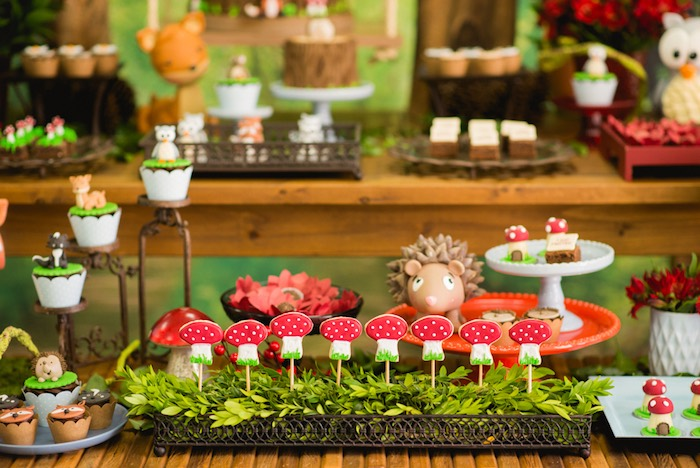 Toadstool cookie pops from an Enchanted Forest Birthday Party on Kara's Party Ideas   KarasPartyIdeas.com (34)