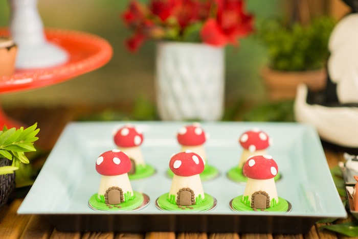 Toadstool house sweets from an Enchanted Forest Birthday Party on Kara's Party Ideas   KarasPartyIdeas.com (30)