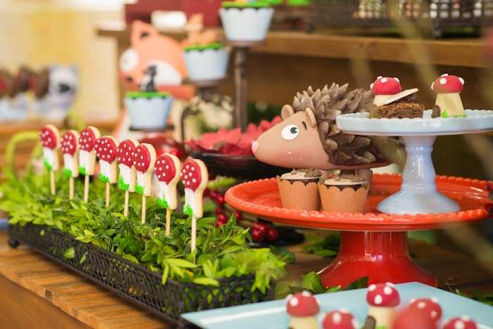 Woodland desserts from an Enchanted Forest Birthday Party on Kara's Party Ideas   KarasPartyIdeas.com (28)