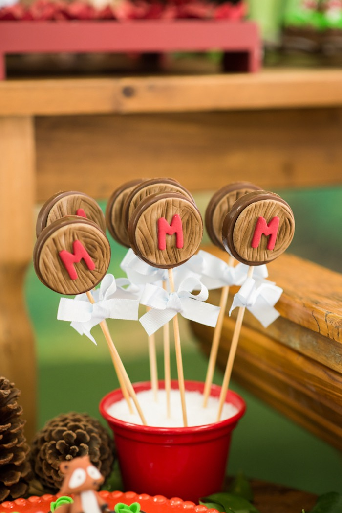 Tree-grained chocolate lollipops from an Enchanted Forest Birthday Party on Kara's Party Ideas   KarasPartyIdeas.com (25)