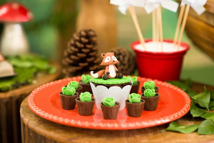 Fox cupcake from an Enchanted Forest Birthday Party on Kara's Party Ideas   KarasPartyIdeas.com (24)