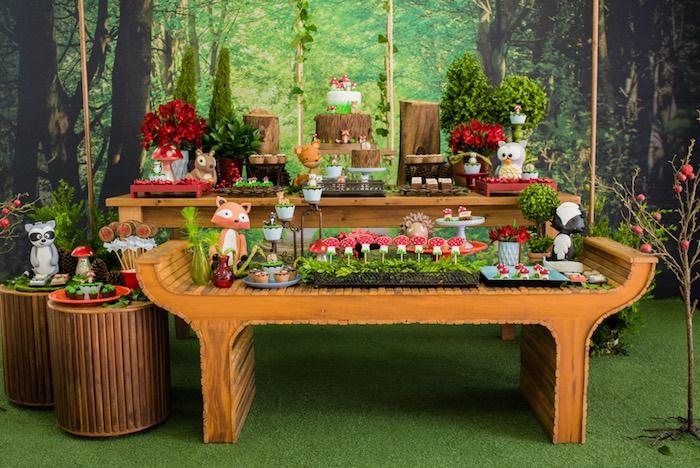 Dessert spread from an Enchanted Forest Birthday Party on Kara's Party Ideas   KarasPartyIdeas.com (15)